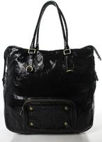 Marc by Marc Jacobs Black Coated Canvas Tote Shoulder Handbag