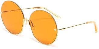 Møy Atelier Sense Of Sonder' 12K gold plated rim oversized round sunglasses