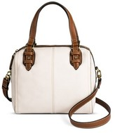 Merona Women's Nubuck Satchel Handbag with Foxford Trim