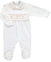 Mini La Mode Baby Classic Pima Cotton Footsie Sleepsuit, White