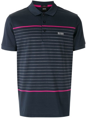 HUGO BOSS Horizontal-Stripe Short-Sleeve Polo Shirt