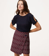 LOFT Diamond Button Wrap Skirt