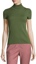 Theory Agy C Evian Short-Sleeve Sweater, Spring Green