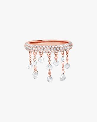 Graziela Gems Rose Gold Floating Diamond Ring