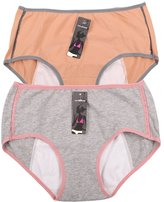 YOYI FASHION Women's Menstrual Period Protection Leak Proof Control Brief 2 Pack (L, )