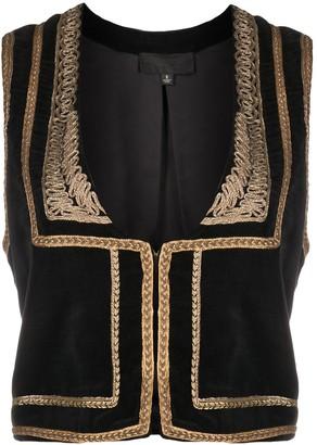 Nili Lotan Embroidered Design Cropped Jacket