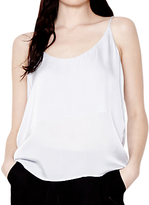 Ghost Willa Satin Camisole Top, Pearl Grey