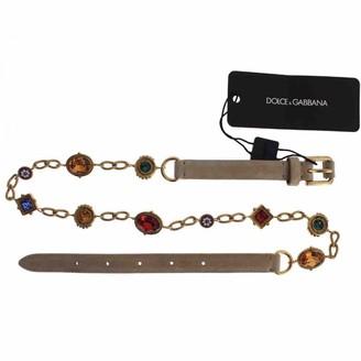 Dolce & Gabbana Beige Metal Belts