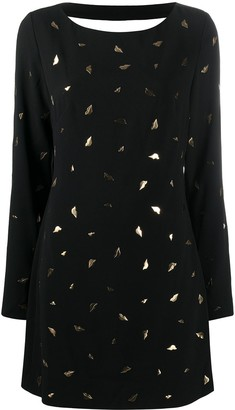 Diane von Furstenberg Lip-Pattern Short Dress