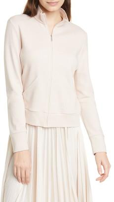 MAX MARA LEISURE Zip Front Cotton Blend Jacket