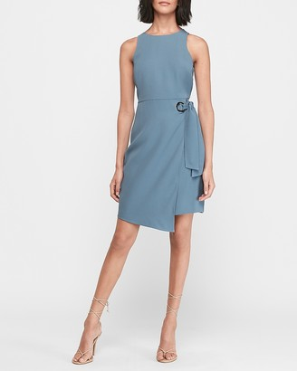 Express O-Ring Wrap Sheath Dress