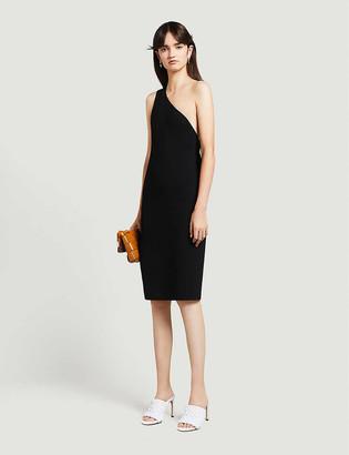 Bottega Veneta Asymmetric-neckline jersey dress