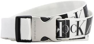 Calvin Klein Jeans 40mm Mirror Logo Canvas Belt