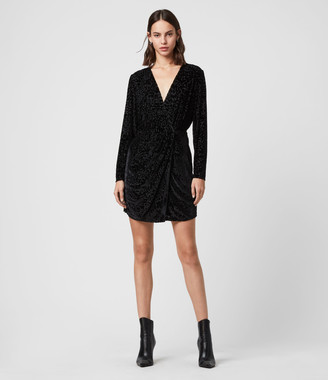 AllSaints Laney Devore Dress