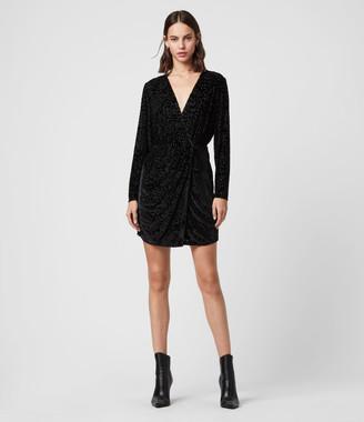 AllSaints Laney Devore Dress