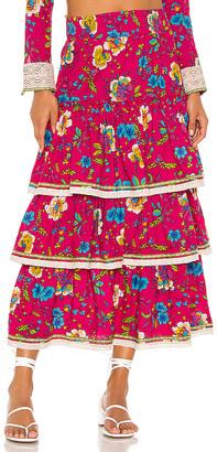 Pitusa Layered Boho Skirt