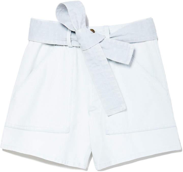 Apiece Apart Merida High-Waisted Denim Shorts