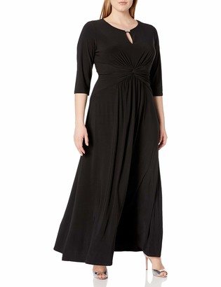 Alex Evenings Women's Plus Size Dress with Keyhole Cutout