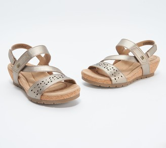 Earth Origins Leather Strap Wedges - Kendra Khloe