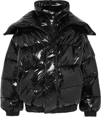 Vetements Oversized Appliqued Quilted Shell Jacket