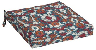 Ebern Designs Ikat Seat Outdoor Dining Chair Cushion