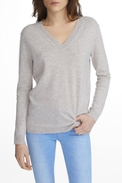 White + Warren Cashmere V-Neck Sweater