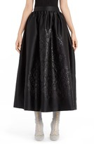 Fendi Women's Embossed Duchess Satin Ball Skirt