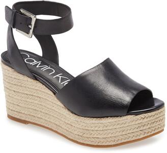 Calvin Klein Chyna Espadrille Wedge Sandal