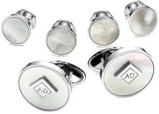 Dunhill Radial 3-Pair Mother-Of-Pearl Cufflink Set