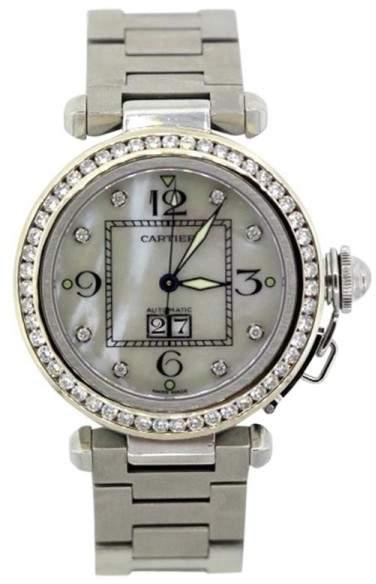 Cartier Pasha Stainless Steel & Diamond Bezel Unisex Watch