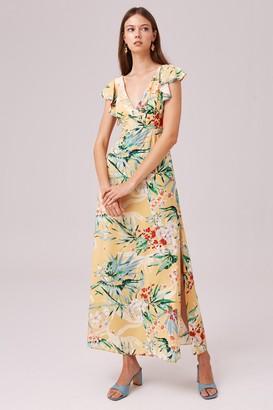 Finders Keepers PARADISE MAXI DRESS lemon tropical