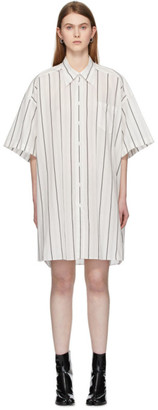 Maison Margiela Off-White Cotton Poplin Shirt Dress