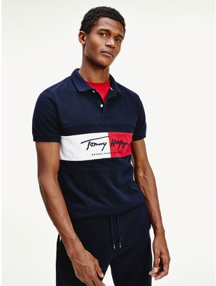 Tommy Hilfiger Slim Fit Signature Flag Polo