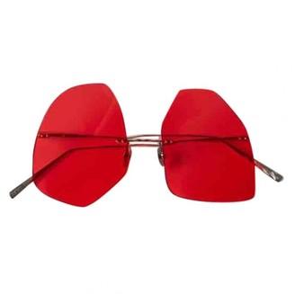 Acne Studios Red Metal Sunglasses