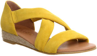 Office Hallie Cross Strap Espadrilles Yellow Suede