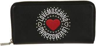 Love Moschino Heart Logo Zip-around Wallet
