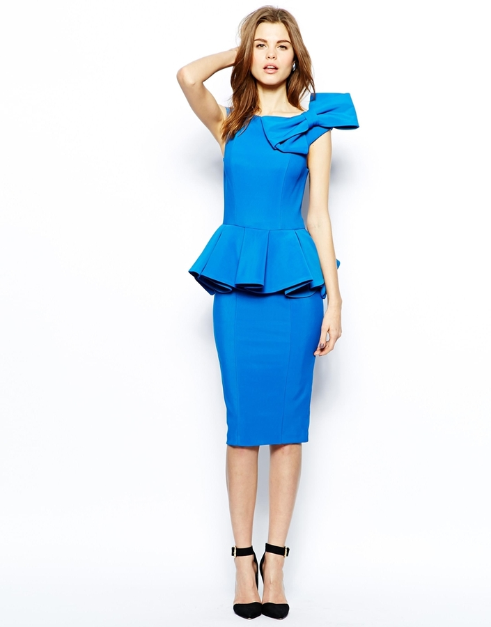 Forever Unique Structured Dress with Bow