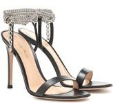 Gianvito Rossi Debbie embellished leather sandals
