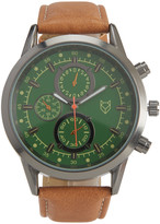 Prince & Fox Faux Leather Chronograph Watch