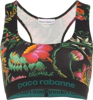 Paco Rabanne floral-print sports bra