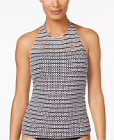 Anne Cole Crochet High-Neck Tankini Top