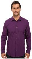 Calvin Klein Long Sleeve Infinite Cool Mini Check Poplin Shirt