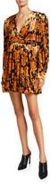Dodo Bar Or Printed Long-Sleeve Mini Dress