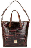Dooney & Bourke Lilliana Crocodile-Embossed Leather Tote