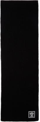 Versace Black Wool Medusa Scarf