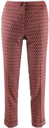Etro cropped slim fit trousers