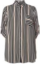 Dorothy Perkins DP Curve Blush Stripe Longline Shirt