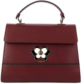 Furla Handbag Mughetto Bag In Smooth Leather With Butterfly Jewel Closure
