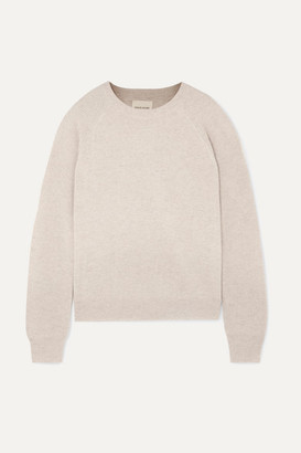 LOULOU STUDIO Levanzo Ribbed Melange Cashmere Sweater - Beige