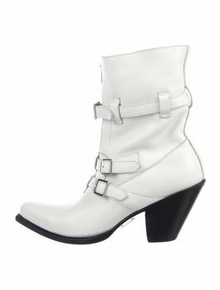 Celine Berlin Leather Boots White